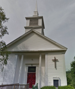 Waldoboro United Methodist Church (front view), 85 Friendship Street (Route 220), Waldoboro, Maine.
